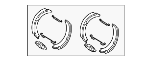 Brake Shoes - Mercedes-Benz (004-420-86-20)