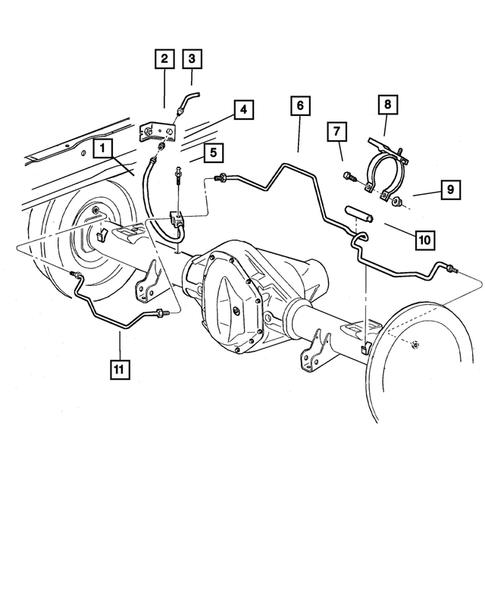 Brake Lines And Hoses For 2001 Dodge Ram 1500 Big Mopar Parts