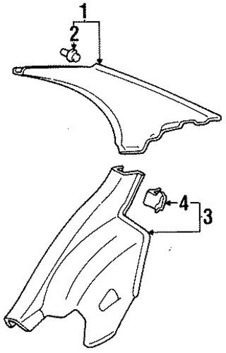 BODY/INTERIOR TRIM - QUARTER PANELS for 1997 Toyota Tercel #2