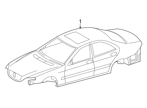 Body Shell For 2000 Mercedes Benz S 500