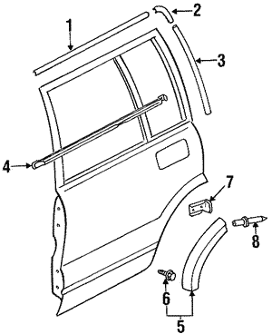 Molding Rear Door Upper