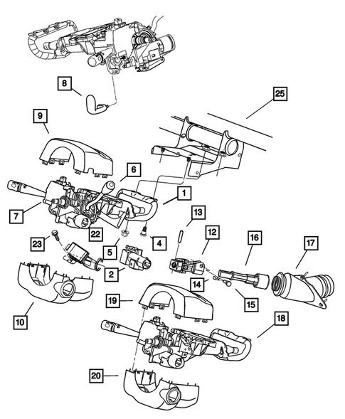 Steering Column For 2003 Chrysler 300m Big Mopar Parts