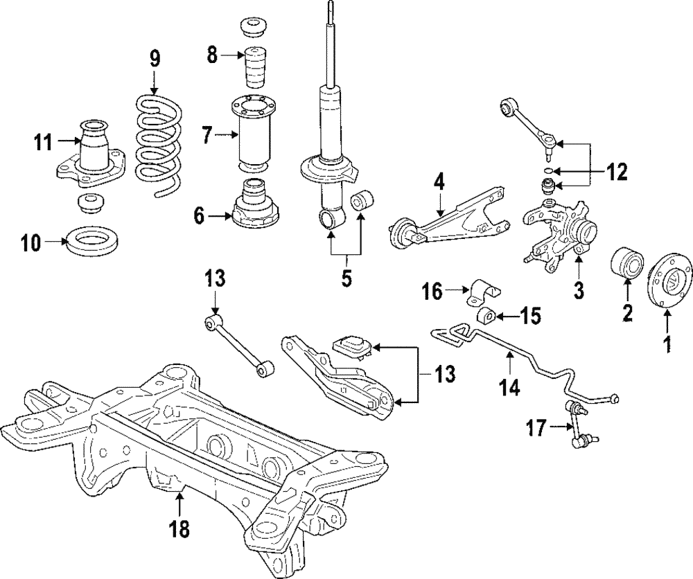 Acura 52611-TK5-A03 Shock Absorber