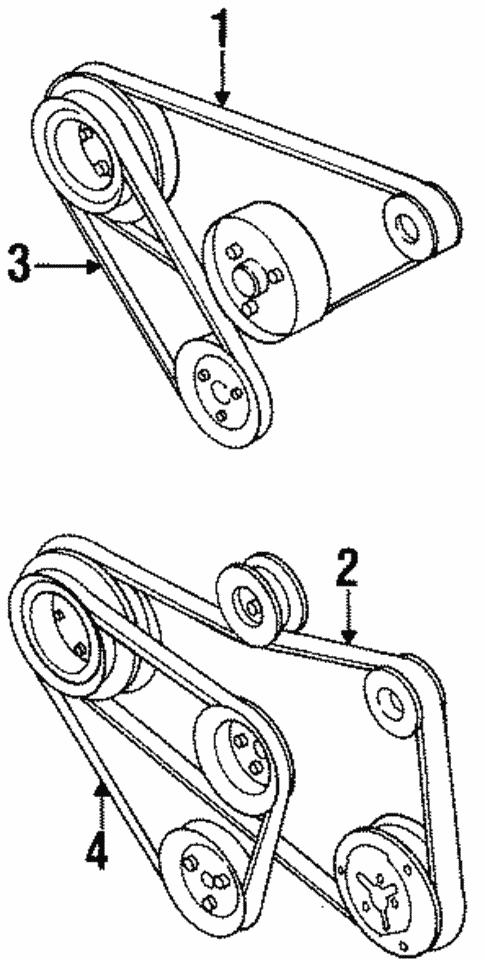 Belts Pulleys For 1999 Volkswagen Cabrio