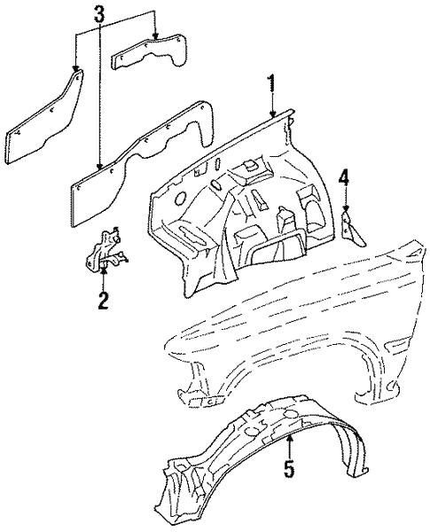 Inner Components For 1989 Toyota Pickup
