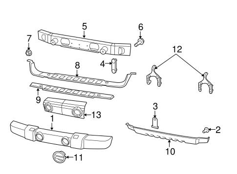 bumper cover support bracket