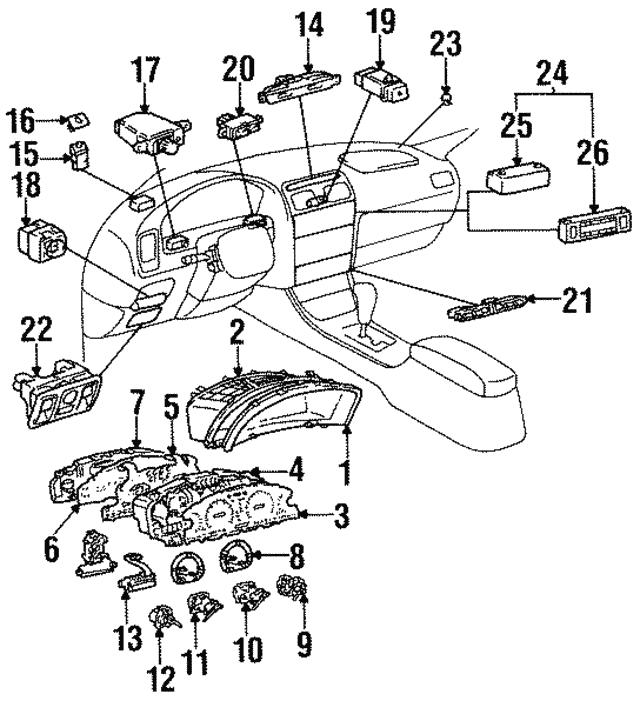 1995 2005 Lexus Sunload Sensor 88625 50110