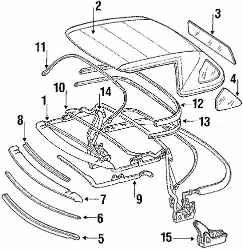 folding top for 1987 mercedes-benz 560 sl #0