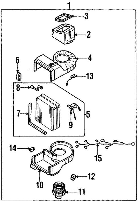 1998 kia sportage parts diagram