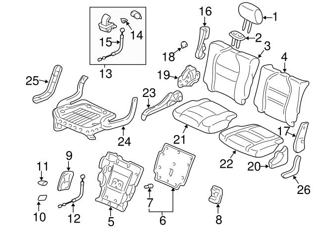 Honda Genuine Seat Cushion Frame 81336-SHJ-A01