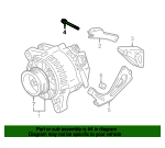 Alternator Mount Bolt - Toyota (12515-0A010)