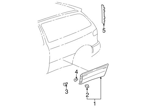 BODY/EXTERIOR TRIM - SIDE PANEL for 1999 Toyota Sienna #1