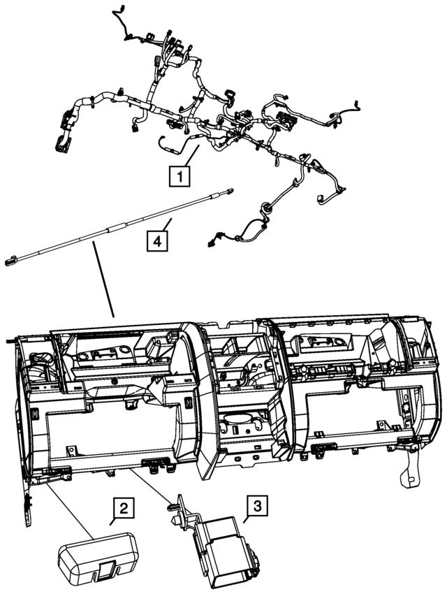 Mopar Wiring Instrument Panel 68042437ac