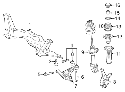FRONT SUSPENSION/SUSPENSION COMPONENTS for 2015 Toyota Yaris #1