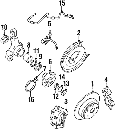 Anti Lock Brakes For 1997 Subaru Svx