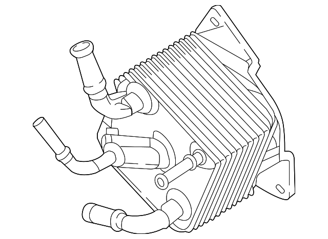 Genuine Nissan Oil Cooler Assembly Auto Transmission 21606 28x1a
