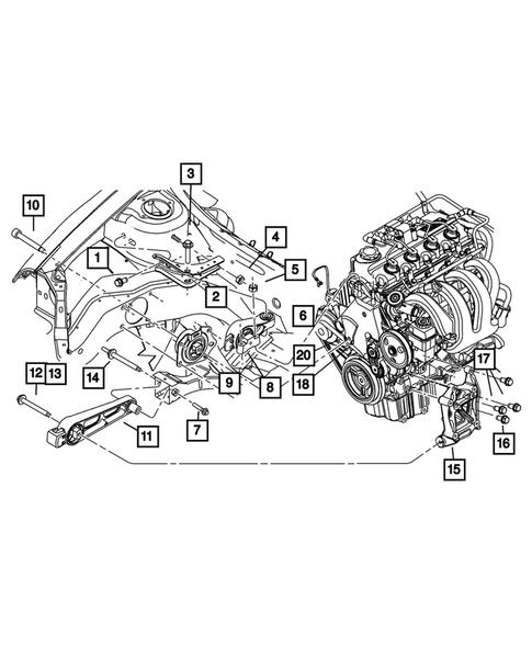 dodge neon engine parts diagram engine mounting for 2003 dodge neon big mopar parts  engine mounting for 2003 dodge neon