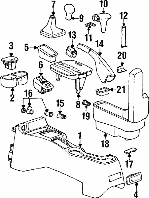 1999 Saturn Parts Diagram