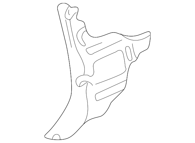 Genuine Ford 2C7Z-2502345-AAA Cowl Trim Panel