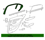 Upper Trim - Mercedes-Benz (253-737-04-71-9051)