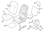 Seat Back Cover - Nissan (87671-4DS6A)