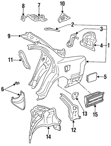 BODY/QUARTER PANEL & COMPONENTS for 1996 Toyota Camry #1