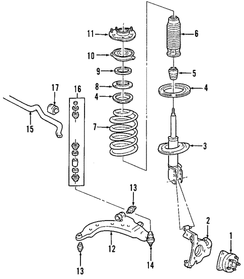 oem suspension components for 2007 saturn relay