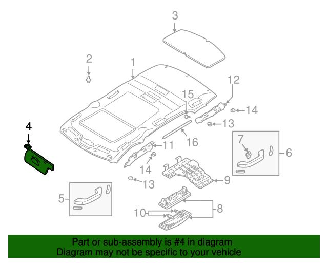 Sun-Visor - Mazda (LD12-69-320A-80) | Quirk Parts
