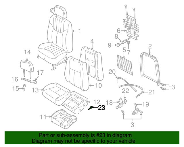 0105 Chevrolet Malibu Oldsmobile Alero Front Seat Back Reclining Handle Oem New: GM Engine Parts Diagram 2001 Oldsmobile Intrigue At Satuska.co
