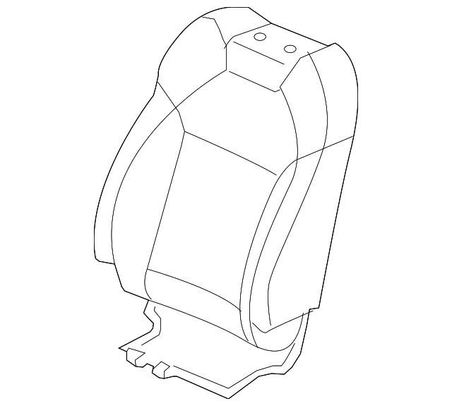 2019-2020 Acura MDX 5-DOOR Cover, L Front Seat-Back Trim