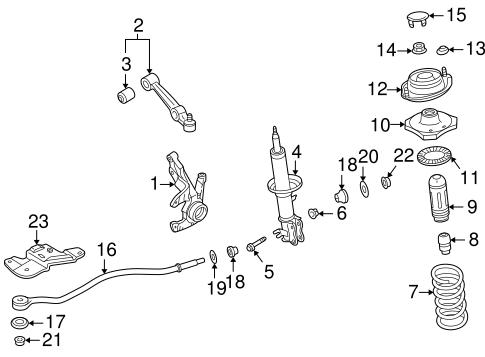 suspension components for 2003 kia rio