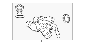 Thermostat Housing - Mazda (CA60-15-170A)