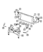 Headlamp Mounting Bracket - Mopar (68385110AA)