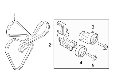 Serpentine Belt (long belt) - Hyundai (25212-25000)   hyundaiparts