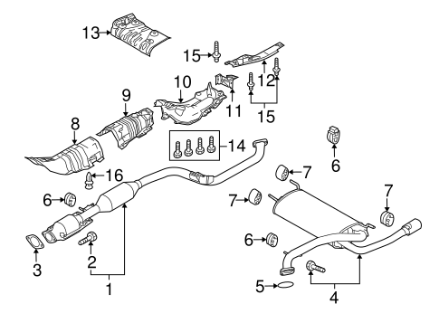 Exhaust Components For 2012 Mazda 3