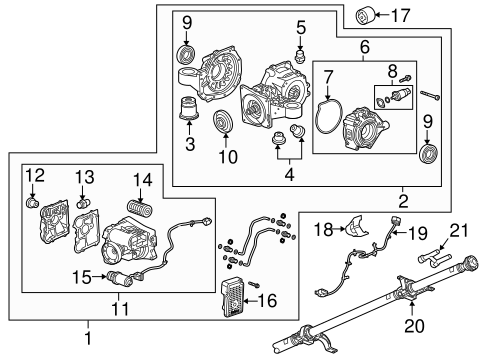 Axle & Differential for 2015 Cadillac XTS   Symes GM Parts