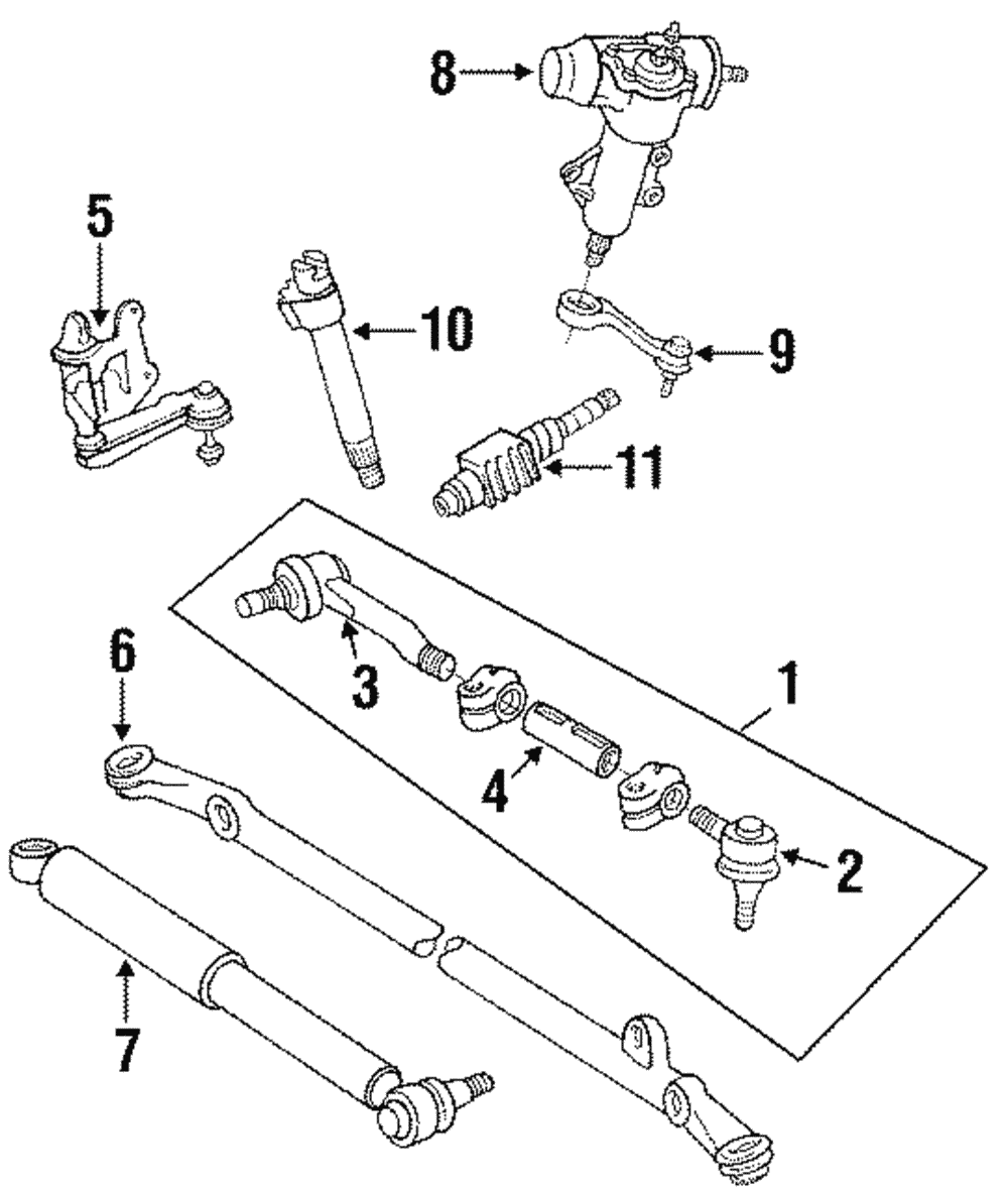 genuine toyota tie rod assembly 45460