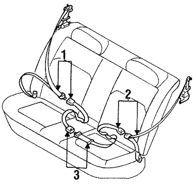 Belt & Retractor - Subaru (64669AC360MU)