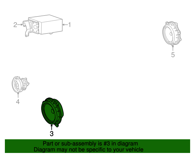 tc 2012 scion pt546 wiring diagram 2005 2015 scion quarter panel speaker 86160 13080 toyotacool  scion quarter panel speaker 86160 13080
