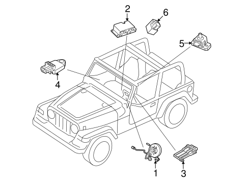 Air Bag Components For 2014 Jeep Wrangler