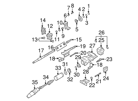 Shaft & Internal Components for 2005 Cadillac DeVille #0