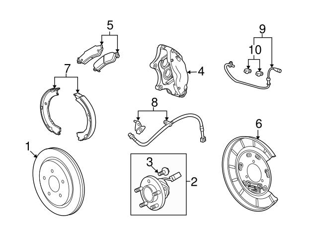 Details about  /For Chevrolet Trailblazer EXT Disc Brake Pad Drag Reduction Clip 24764ZD