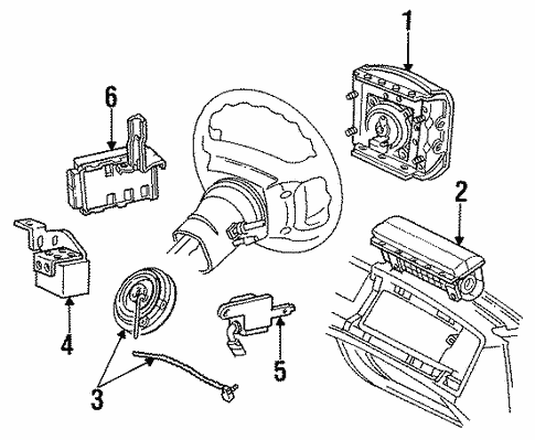 Air Bag Components For 1996 Mercury Grand Marquis