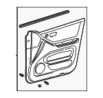 Door Trim Panel - Toyota (67620-48341-B0)
