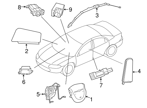 Air Bag Components For 2007 Chrysler Sebring