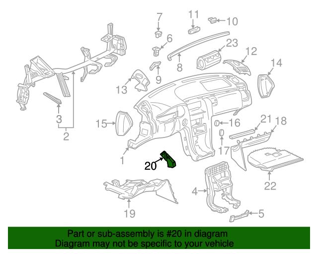 Lower panel bracket mercedes benz 210 680 05 14 for Oem parts for mercedes benz