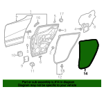 Weather-Strip On Body - Toyota (62331-F4010)