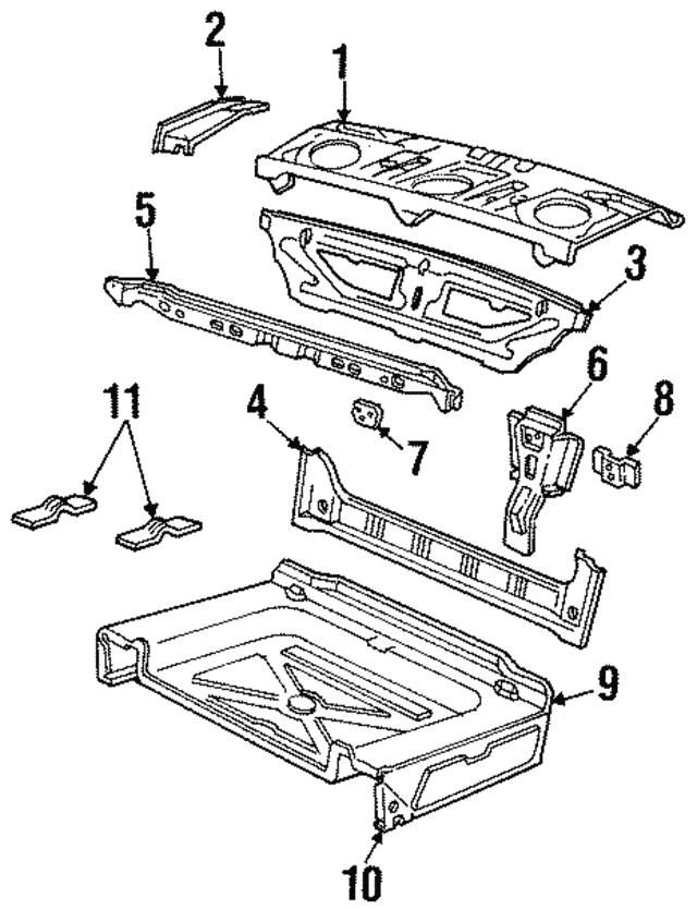 1989 2011 Ford Spare Bracket F6az 5447076 Ac