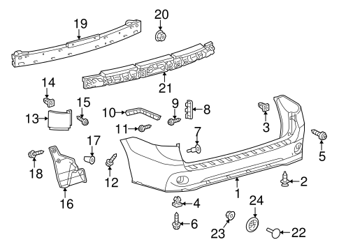 5711208021 together with Suspension  ponents Scat moreover Rear Body Scat together with 531498 Rear Bumper Black Molding Near Tire likewise 2004 Toyota Corolla Parts Diagram. on toyota sienna front bumper