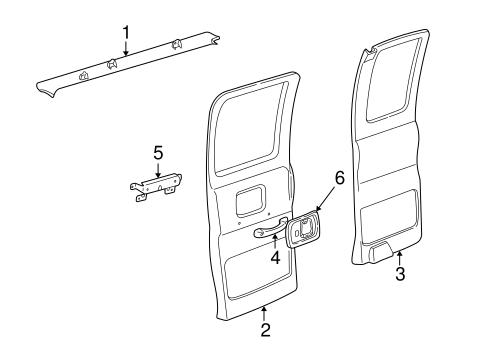 Oem 2000 Chevrolet Express 1500 Interior Trim